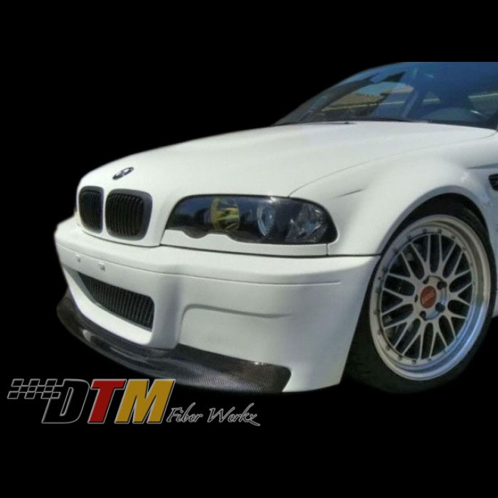 bmw e46 m3 1 piece style front lip fits csl bumper only. Black Bedroom Furniture Sets. Home Design Ideas