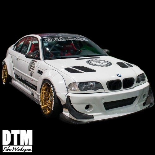 BMW E46 M3 GTR-S Style Front Bumper With Diffuser