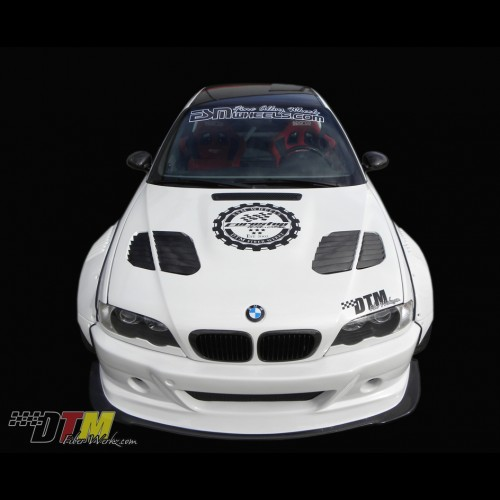 BMW E46 M3 0006 GTR Race Style Vented Hood