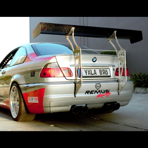 bmw e46 m3 chassis mounted race spoiler wing 66. Black Bedroom Furniture Sets. Home Design Ideas